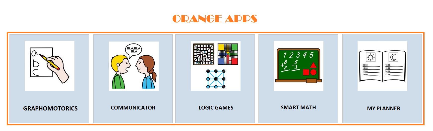 Orange apps: selection bar
