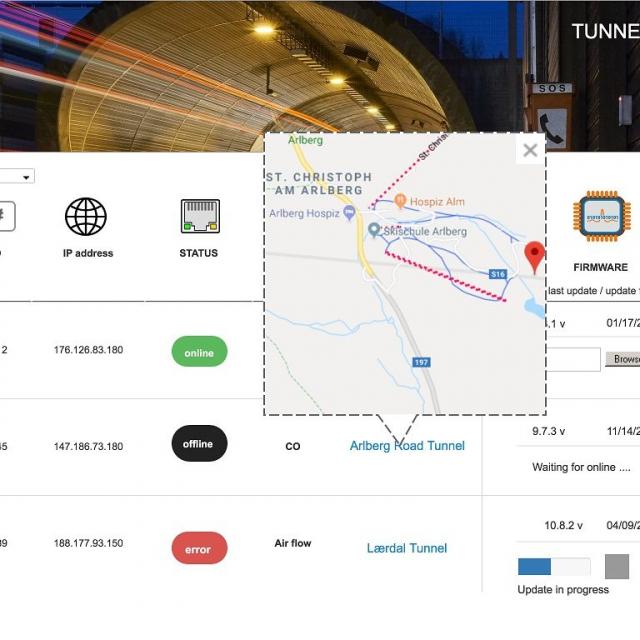 SensorWebservice: sensor location