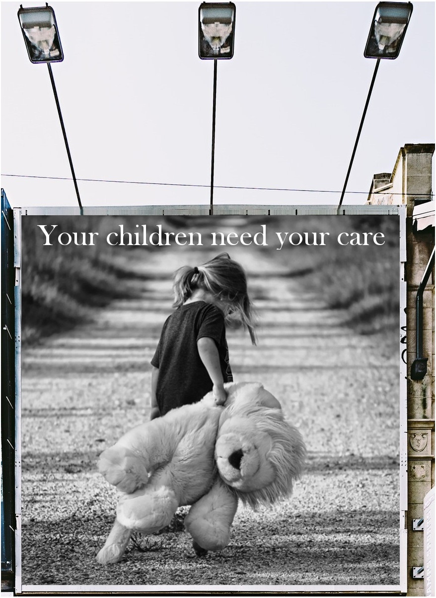 Children protection: wall billboard