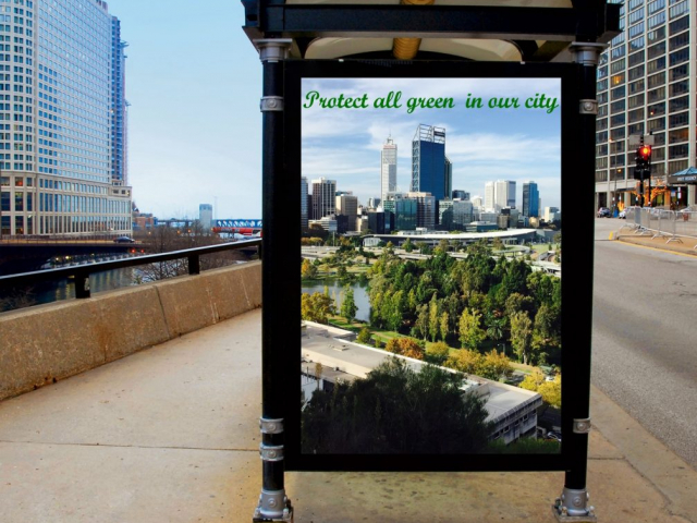 Green conservation: bus stop